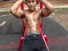 Asian gay nipple