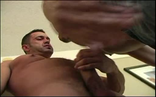 Two guys fucking on the bed