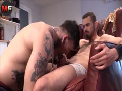 Tattoo Hunks Fuck Bareback