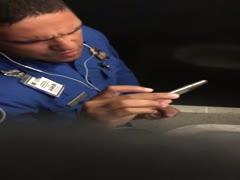 TSA Officer Caught Cumming in the Stall
