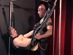 LEATHER MUSCLE SLING FUCK
