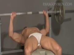 Marcel Hans Rodriguez pumps, flexes and jerks off