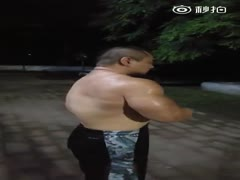 beefymuscle.com - Massive Asian showing muscles