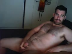 Straight Daddy Masturbating