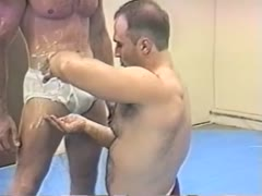 DILF and twink wrestle and frot