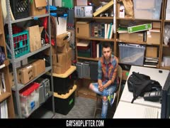 GayShoplifter - Twink shoplifter boy barebacked by security guard for stealing