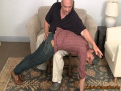 Straight boy spanked