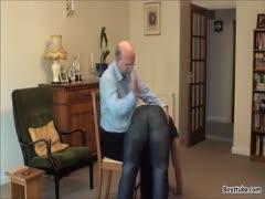 How to spank a big bad boy.
