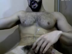 Huge cock just came over chest