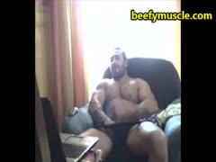 beefymuscle.com - Muscle bear daddy cums a lot